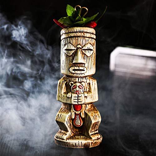 MZYKA Copa de cóctel de Bar Samif Hawaii, Copa de Tiki de Fiesta Creativa Individual, Copa de cerámica
