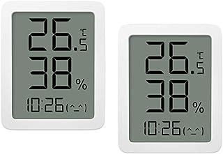 """Homidy Lot de 2 thermomètres d'intérieur - Hygromètre numérique - Écran HD - 3,5"""" - Capteur de température de haute précision"""
