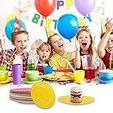 FunPa Party Pappteller, 48 Stück DIY Bunt Pappteller 7''Pappschale Partyteller Partyset für Kindergeburtstag Party Geschirr Set Einwegteller für Feste und Feiern wie Geburtstag oder Grillabend - 2