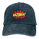 Men's Vintage Adjustable Cap Design Big Bang Theory Funny Casual Fashion Hat, Red