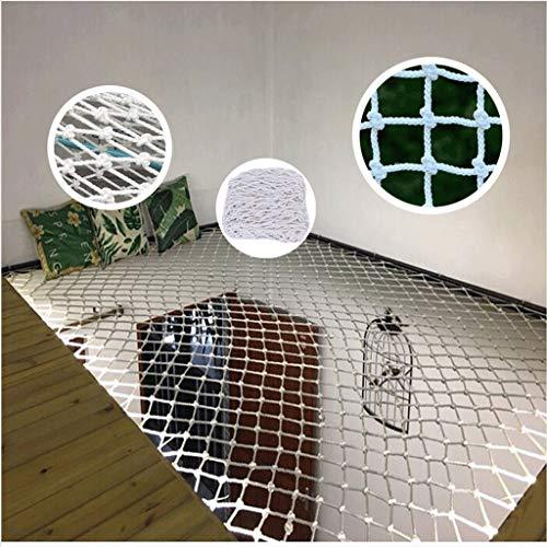 Huishoudelijke Chemische Vezel Touw Net Balkon bescherming nettrappen anti-val net, tuindecoratie netto plant klimnet, outdoor camping hangmat, kind veiligheid net bouw hek net wit Nylon De