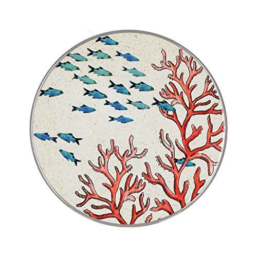 Rose e Tulipani - SEA LIFE Sottopentola in ceramica con disegno Corallo rosso, diametro 20 cm - ideale per arredo casa cucina