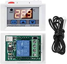 WHDTS Digital Temperature Controller Switch Module 12V DC -50℃ to 110℃ Micro Digital Thermostat Board with 1M Waterproof Sensor Probe