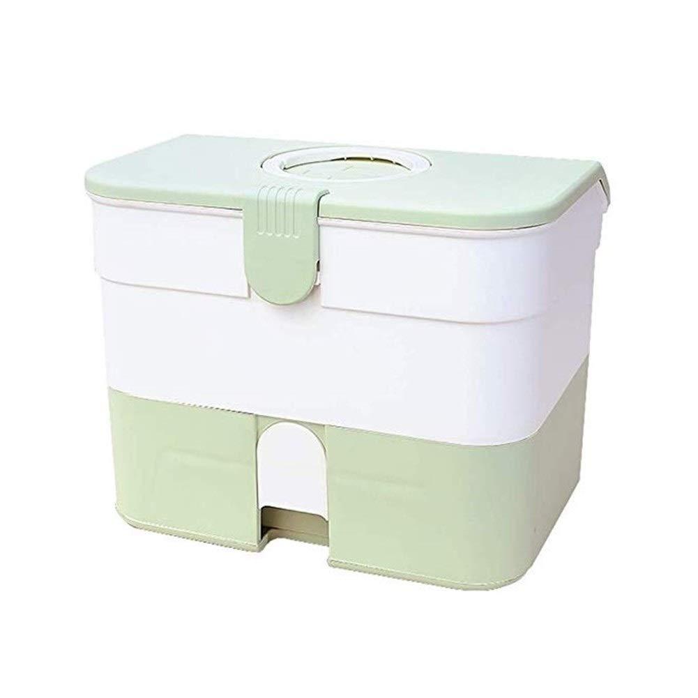MMWYC Caja de Almacenamiento Cerradura Caja de medicamentos Protección Caja de medicamentos recetados Caja de Almacenamiento de medicamentos Caja médica (Color : Green): Amazon.es: Hogar