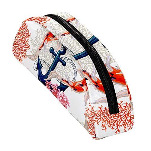 Shiiny Beautiful Tropical con ancla Koi Fish Corals Pen y lápiz gráfico...