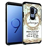 Galaxy S9+ PLUS Harry Potter Deathly Hallows Case, DURARMOR Dual Layer Hybrid ShockProof Slim Fit Armor Cover for Galaxy S9 PLUS (2018) Always