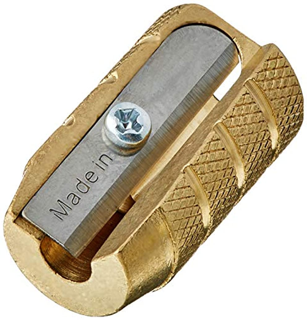 Alvin Brass Bullet Sharpener (2, DESIGN 1)