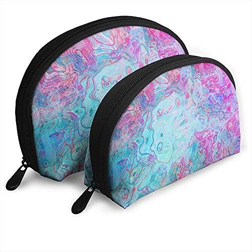 Flüssiger Kunst-Zusammenfassungs-tragbarer Taschen-Make-upbeutel-Kulturbeutel, tragbarer Multifunktionsreisebeutel-Kleiner Make-upkupplungs-Beutel mit Reißverschluss