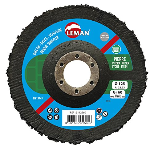 Leman 5112516Disco Semi-Flex Bombé carburo silicio MD 125x 22,23mm, Azul, 5112536