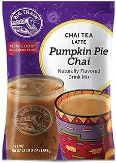 Big Train Chai Tea Latte, Pumpkin Pie, 56 Ounce, Powdered Instant Chai Tea Latte Mix, Spiced Black Tea with Milk, For Home, CafÃ, Coffee Shop, Restaurant Use