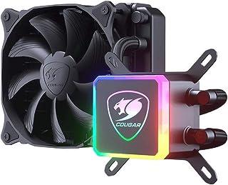 Cougar Aqua High-Performance CPU Liquid Cooler with Vibrant and Dazzling RGB LED Pump Head and a Remote Controller (Aqua 120)