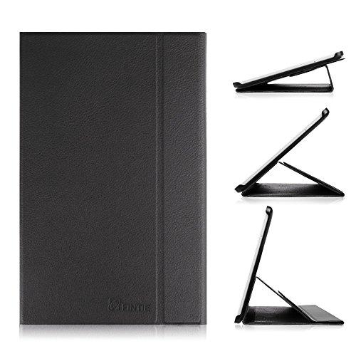 Fintie Samsung Galaxy Tab E 9.6 Hülle Case - Ultra-schmaler Flip Folio Smart Book Cover Schutzhülle für für Samsung Galaxy Tab E T560N / T561N 24,3 cm (9,6 Zoll) Tablet-PC, Schwarz
