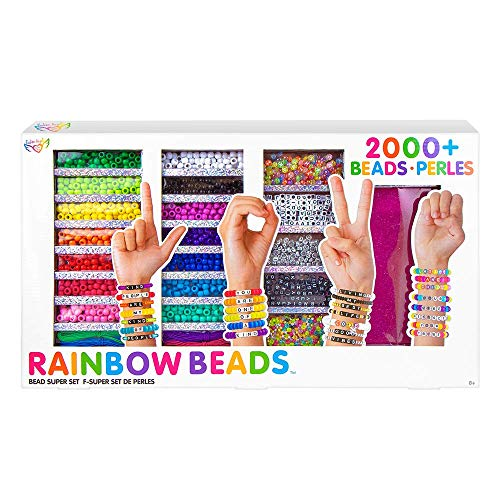 Fashion Angels 2,000+ Bead Bracelet Making Kit (12364), Includes Keeper Case, Alphabet Beads, Makes 50+ Bracelets, Includes Inspiration Guide, Recommended for Ages 8 and Up
