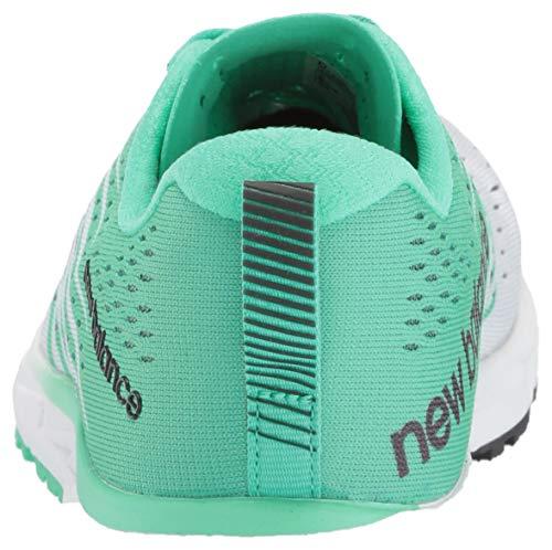 New Balance 1500v5, Running Femme, Blanc White Green White Green, 41.5 EU