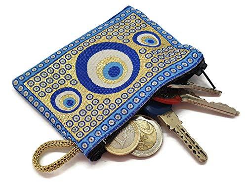 Mystic Jewels Petit Porte-Cartes en métal Motif Tapis Turc Traditionnel 8 x 11 cm