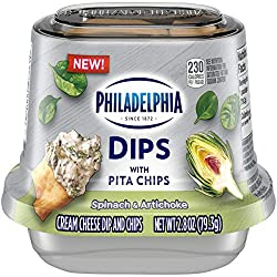 Philadelphia Dips Spinach Artichoke with Pita Chips (2.8 oz Cup)