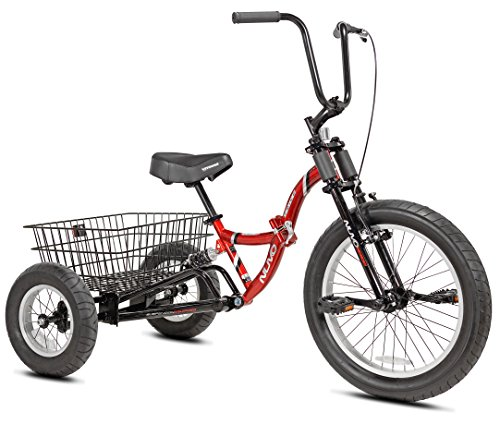 3 Wheel Bikes for Adults with Gears - Nuvo Adult Folding Trike, 20""
