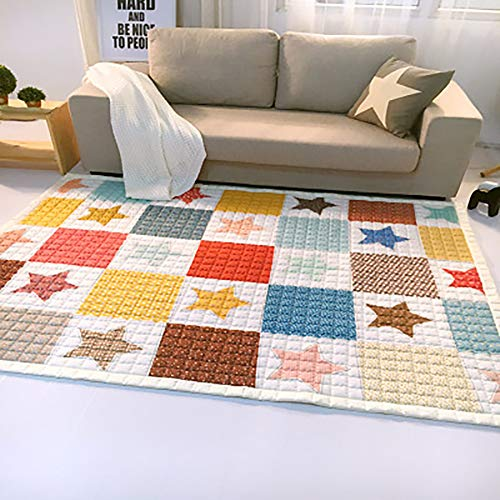 WJSW Kinderspielfeld Decke Baby Kriechende Matte Babyspielzeug SpielenMat Teppich Picknickmatte -150 * 200 cm,B