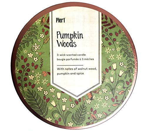 Pier 1 Imports 3-Wick (14 oz.) Candle Jar - Pumpkin Woods