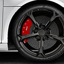 Set of 4 Front and Rear Red MGP Caliper Covers for 2003-2005 Nissan 350Z (Fits Non-Brembo brake calipers)