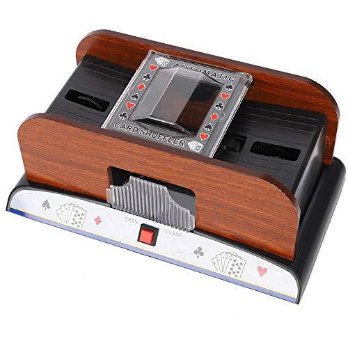 Weiyiroty Máquina automática de baraja de Cartas de póker Juego de Cartas barajadora 2 Barajas de póker