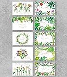 PremiumLine Geburtstagskarten Set mit Umschlag, 10 Stück, umweltfreundliche, hochwertige Klappkarte gedruckt auf edlem Naturkarton, Glückwunschkarte mit Natur Pflanzen Motiv, 11,5 x 17,5 cm