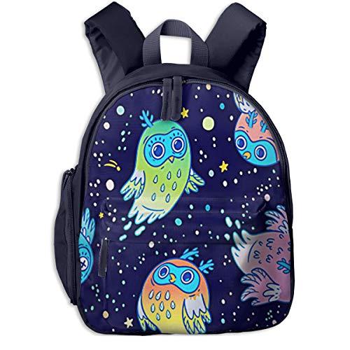 Kinderrucksack Kleinkind Jungen Mädchen Kindergartentasche Flying Ghost Owls Spooky Backpack Schultasche Rucksack