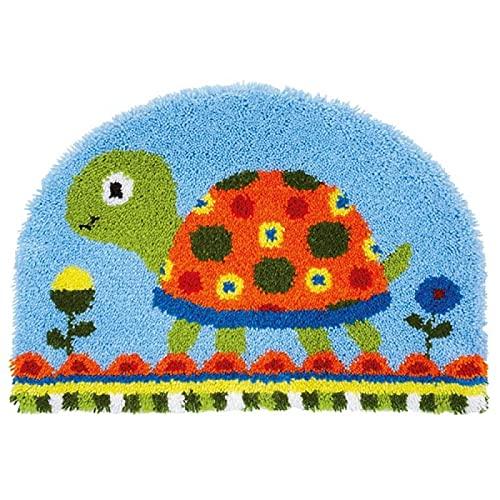 Kit de alfombra de gancho, para manualidades, funda de cojín y funda de almohada de ganchillo hecha a mano para niños y adultos (52 x 38 cm)