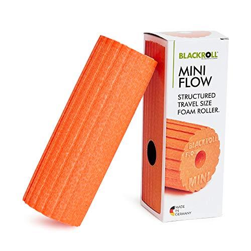 BLACKROLL® MINI FLOW Faszienrolle - das Original. Die kleine Selbstmassage-Rolle mit doppeltem Effekt für die Faszien in orange