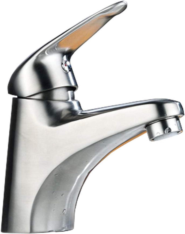 Wasserhahn 360 ° Drehbar Edelstahl Wasserhahnwarm- Und Kaltwasserhahn_Factory Direct 304 Edelstahl Waschbecken Einzigen Warm- Und Kaltwasserhahn-Set