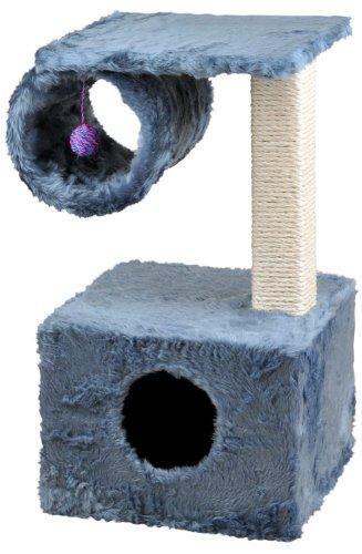 Cat Dream Kratzbaum, Kletterhaus mit Spielrolle, in blau, Höhe: ca. 57 cm