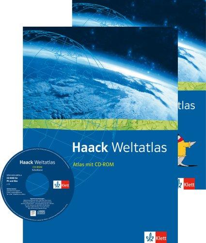 Haack Weltatlas. Allgemeine Ausgabe Sekundarstufe I und II: Atlas mit CD-ROM und Arbeitsheft Kartenlesen Klasse 5-13