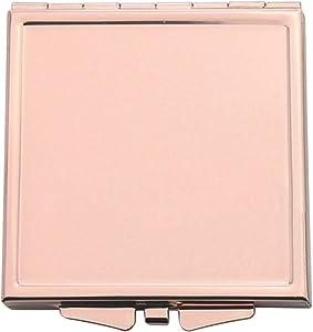 Momangel Miroir de Poche Pliable Rond carré avec tête de Chat Motif cœur