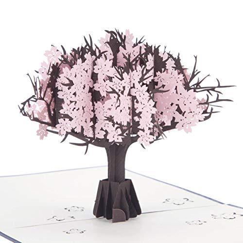 Pink Cherry Blossom 3D-kaart - Japanse kersenbloesem Pop Up Card voor Moederdag, Verjaardag, Dank U Kaarten | 15 x 15cm | Alle gelegenheden Card door Cardology