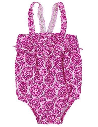 Hatley Baby - Mädchen Badeanzug Einteiler Infant One Piece Swim Suit - Fuschia Mosaic, Gr. 80 (Herstellergröße:6-12 Months), Rosa