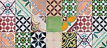 TIENDA EURASIA - Alfombra Multiusos Vinílica, Anti-Manchas, Anti-Deslizante, Material PVC con Efecto Relajante. Ideal para Salón, Dormitorio, Cocina, Pasillos (50 x 80 cm)