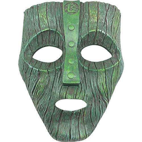 JoJo Masquerade Resina Pietra Fantasma Maschera Artigianato Decorazione,Grey-24 Maschera di Pietra QWEASZER Halloween Cosplay Party Terror JoJo Bizarre Adventure Mask TV Anime 13CM