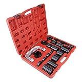 Lot de 21 outils de séparation pour installation de joint de rotule de voiture, extracteurs d'articulations sphériques, kit de retrait de joint de rotule
