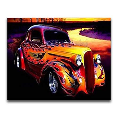 SBNKYQSL 5D Diamant malerei Cartoon Harley Motorrad Auto Bus Kreative Sport Geschwindigkeit Rennen kreuzstich Traktor mosaik DIY Kunstwerk 40 * 50 cm M