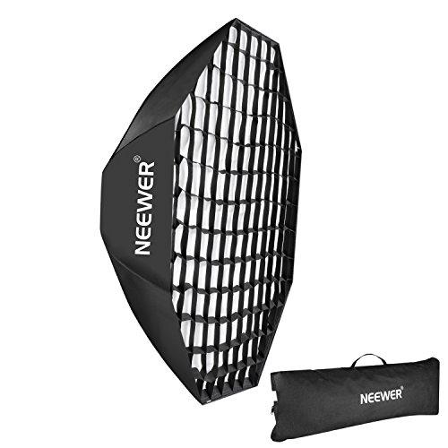 "Neewer 55""/140cm Beehive Octagon Umbrella Speedlite Softbox for Nikon, Canon, Sony, Pentax, Olympus, Panasonic Lumix Flash Light, with Bowens Mount"