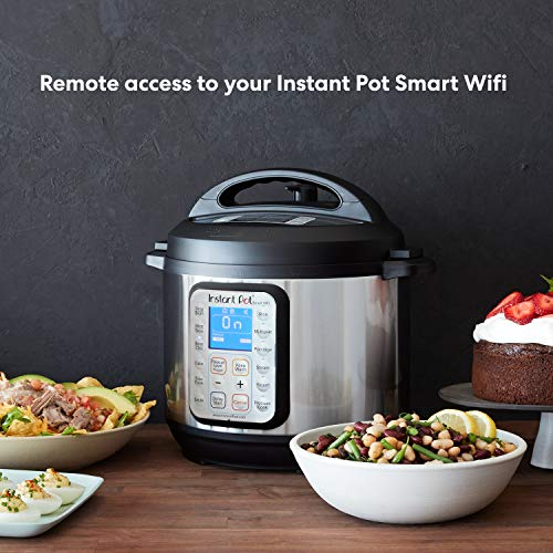Instant Pot Smart WiFi 8-in-1 Electric Pressure Cooker, Slow Cooker, Rice Cooker, Steamer, Saute, Yogurt Maker, Cake Maker, and Warmer, 6 Quart, 13 One-Touch Programs