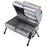 Lifestyle Explorer Stainless Steel Charcoal Barrel BBQ
