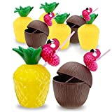 Pineapple Drink Cups Coconut Cups Luau Party...