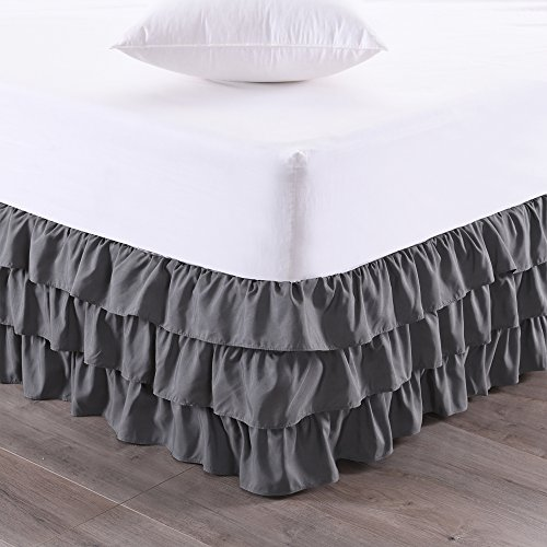 Sweet Home Collection Waterfall Bed Skirt Unique Dust Three...