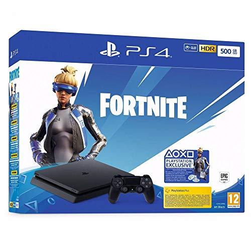Sony PlayStation 4 Slim 500 Go + voucher Fortnite, Avec 1 ma