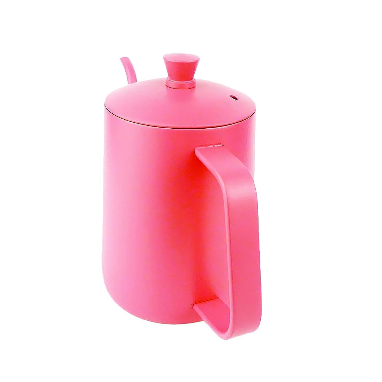 バーゲン歯痛上陸Homyl コーヒードリップ ケトル ドリッ プポット 細口 紅茶 温度計付き 5種選択 ステンレス製  - ピンク