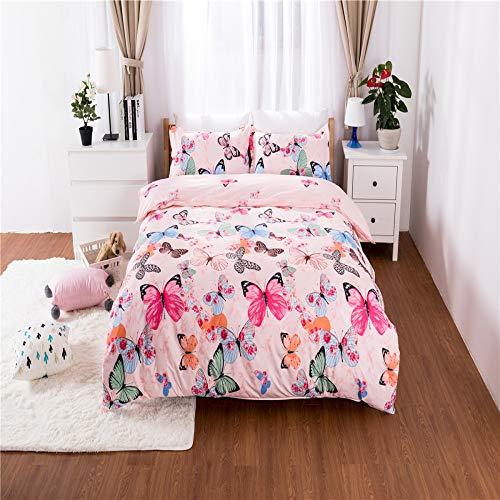 Mädchen Schultücher, Schlafzimmer Bettwäsche Einzelbett Schmetterling Muster, Doppelbett Jungen Mode drei oder vier Sätze von Schmetterlingen FR-King