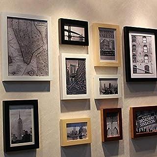Achket إطارات الصور، إطار الصورة، صور مؤطرة، صور Framer.thick Wood 10 إطار بناء أبيض وأسود صورة فوتوغرافية جدار صورة فوتوغ...