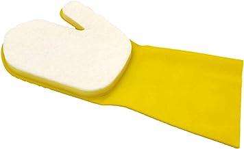 happygirr Guantes de látex impermeables con almohadillas de cincel Comfort Grip impermeables, juego de limpieza para piscinas, spas, cocinas, coches, ventanas de suelo