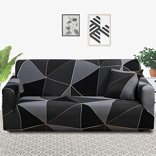 PPOS Funda de sofá elástica elástica con Estampado Floral, Toalla de sofá de algodón, Fundas de sofá Antideslizantes para Sala de Estar A13 Loveseat 145-185cm-1pc